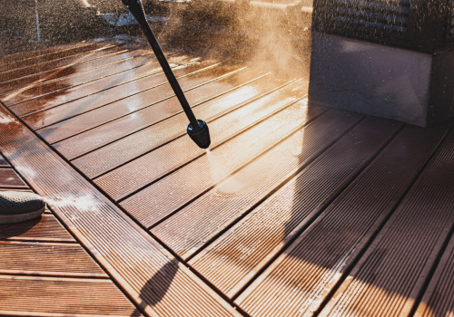 deck cleaning, central Scotland